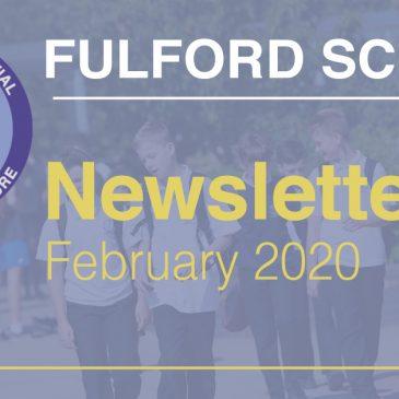 Fulford School Newsletter February 2020