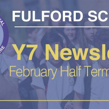 Year 7 February Half-Term 2020 Newsletter