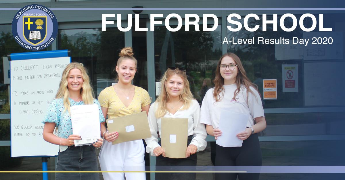 Fulford School ALevel Results Day 2020