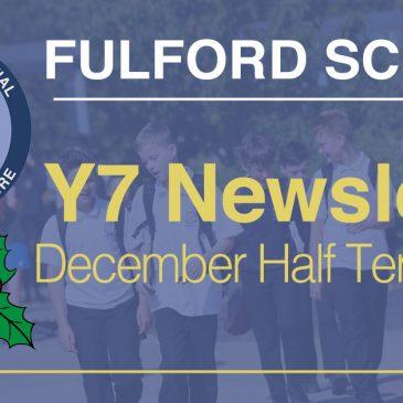 Year 7 December Half-Term 2020 Newsletter