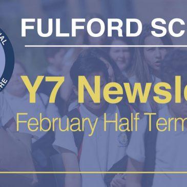 Year 7 February Half-Term 2021 Newsletter