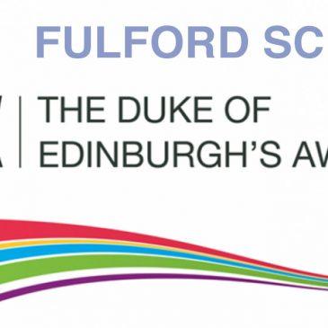Yr 9 Duke of Edinburgh Awards at Fulford School